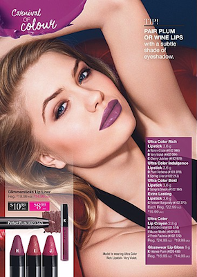 Avon Catalogue Violet Lipsticks Prices